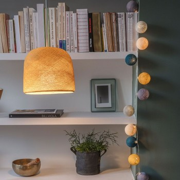 lit mustard lighting cloche