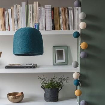 Lamp Cloche eendenblauw met het licht uit