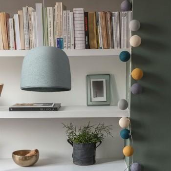 Cloche azurblau - Lampenschirm cloche - La Case de Cousin Paul