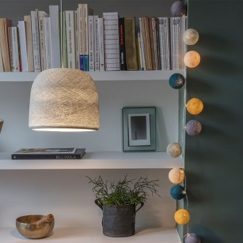 lit pearl grey lighting cloche