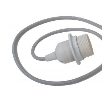 single hanging fixture light grey braided cord - Lights accessories - La Case de Cousin Paul