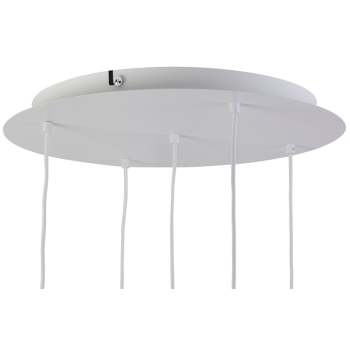 Plafonnier luminaire 5 métal blanc mat