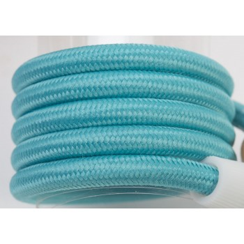 single hanging fixture turquoise braided cord - Lights accessories - La Case de Cousin Paul