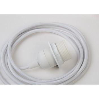 sospensione a una sfera e cavo tessile bianco da 250 cm - Accessori per lampadari - La Case de Cousin Paul