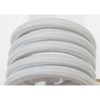 Einfache Aufhängung mit hellgrauem Textilgeflechtkabel, 250 cm - Die Zuberhör für Leuchten - La Case de Cousin Paul