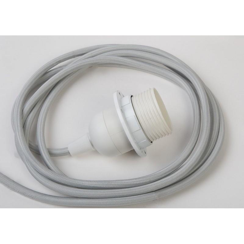 sospensione a una sfera e cavo tessile grigio chiaro da 250 cm - Accessori per lampadari - La Case de Cousin Paul