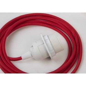 sospensione a una sfera e cavo tessile rosso da 250 cm - Accessori per lampadari - La Case de Cousin Paul