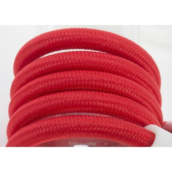 enkelvoudig ophangsysteem van rood geweven snoer, 250 cm - Accessoires voor verlichting - La Case de Cousin Paul