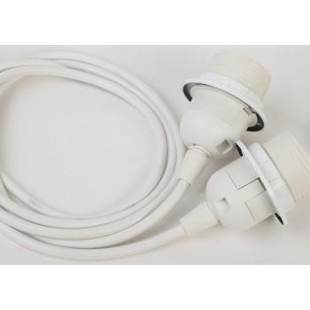 double hanging fixture with white plastic cord - Lights accessories - La Case de Cousin Paul