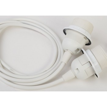 suspensión doble cable plástico blanco - Accesorios para lamparas - La Case de Cousin Paul