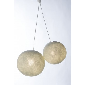 double hanging fixture with white plastic cord - Lights accessories - La Case de Cousin Paul
