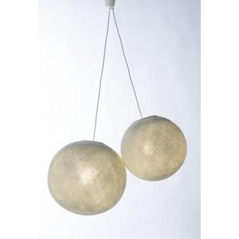 Zweifache Aufhängung mit weiβem Plastikkabel - Die Zuberhör für Leuchten - La Case de Cousin Paul