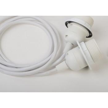 suspensión doble cable tejido blanco - Accesorios para lamparas - La Case de Cousin Paul