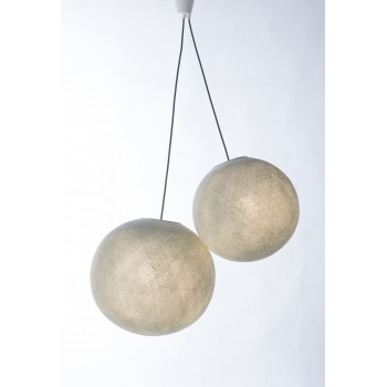 double hanging fixture with dark grey braided cord - Lights accessories - La Case de Cousin Paul