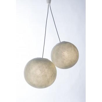 double hanging fixture with dark grey braided cord - Lights accessories - La Case de Cousin Paul