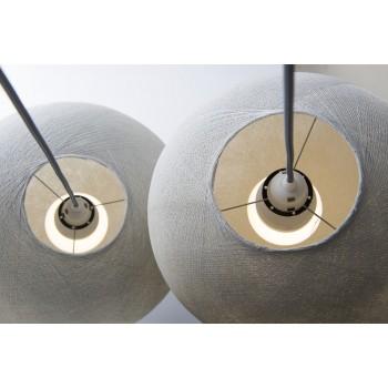 Zweifache Aufhängung mit dunkelgrauem Textilgeflechtkabel - Die Zuberhör für Leuchten - La Case de Cousin Paul