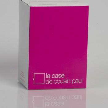 Zweifache Aufhängung mit lilafarbenem Textilgeflechtkabel - Die Zuberhör für Leuchten - La Case de Cousin Paul