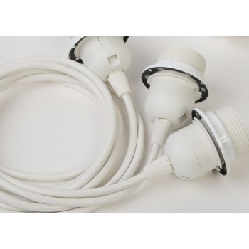 triple hanging fixture with white plastic cord - Lights accessories - La Case de Cousin Paul