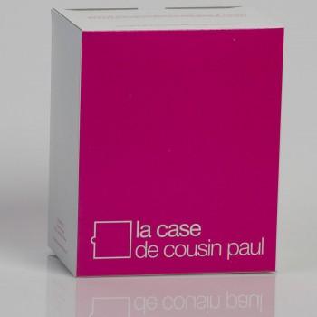 Dreifache Aufhängung mit rotem Textilgeflechtkabel - Die Zuberhör für Leuchten - La Case de Cousin Paul