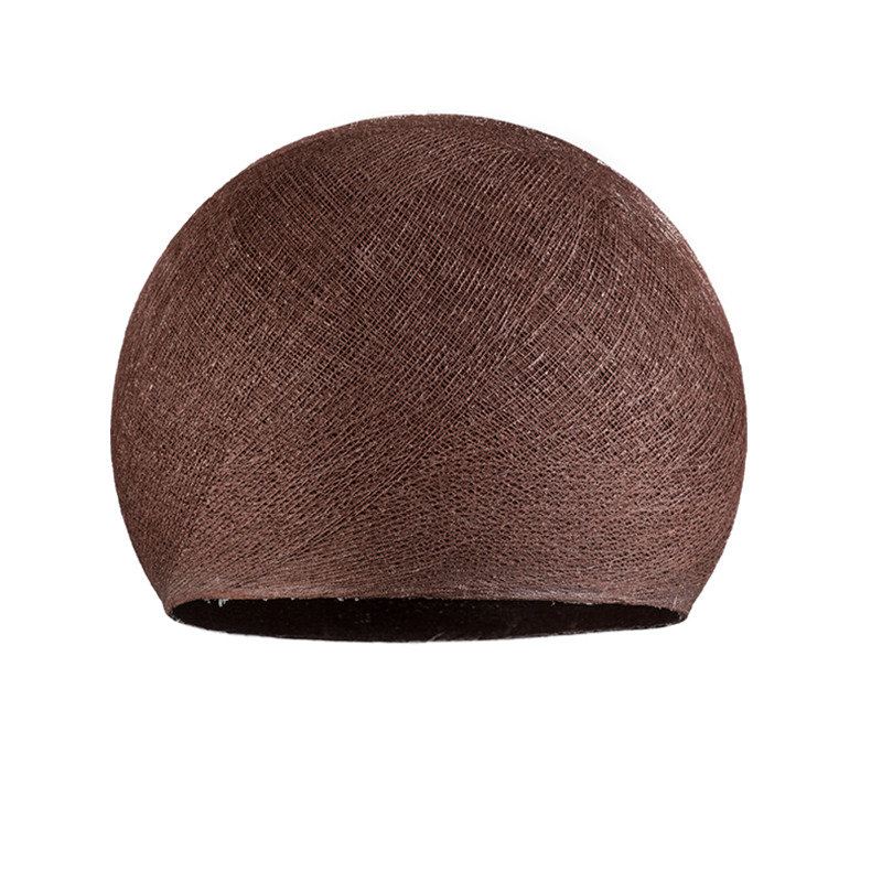 Lampenschirme Einzeln Kuppeln Schokolade - Lampenschirm kuppeln - La Case de Cousin Paul
