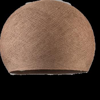 glanzbraun - Lampenschirm kuppeln - La Case de Cousin Paul