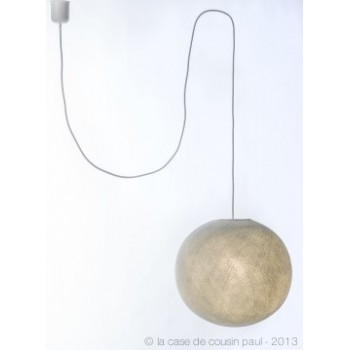 enkelvoudig ophangsysteem van lichtgrijs geweven snoer, 250 cm - Accessoires voor verlichting - La Case de Cousin Paul