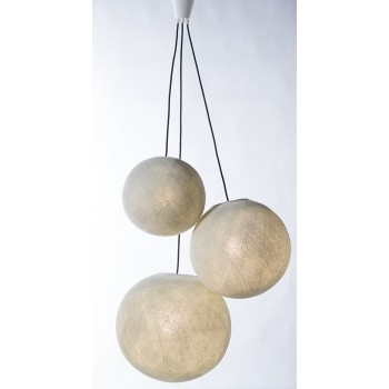 sospensione a tre sfere e cavo tessile nero - Accessori per lampadari - La Case de Cousin Paul