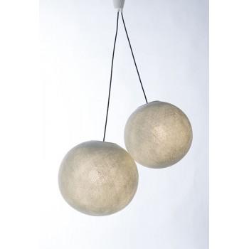 suspensión doble cable tejido negro - Accesorios para lamparas - La Case de Cousin Paul