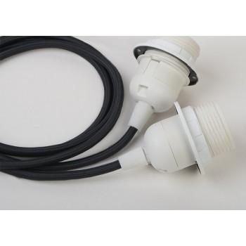 sospensione a due sfere e cavo tessile nero - Accessori per lampadari - La Case de Cousin Paul