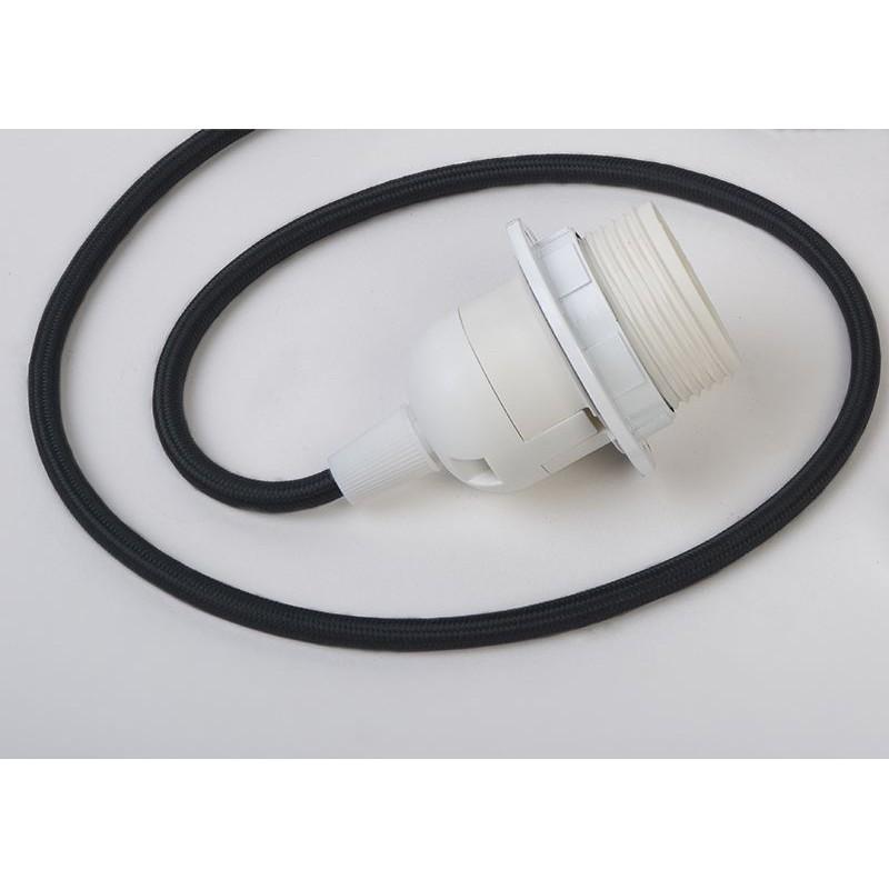 suspensión simple cable tejido negro