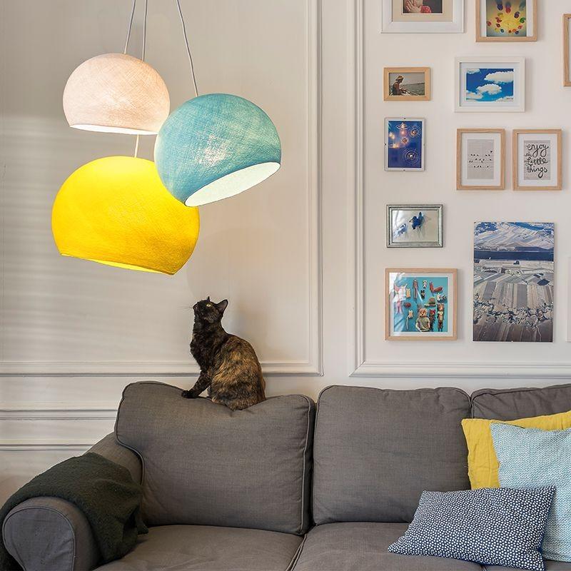 """Driedubbele lamp """"autour d'un canapé"""" - Verlichting Compleet - La Case de Cousin Paul"""
