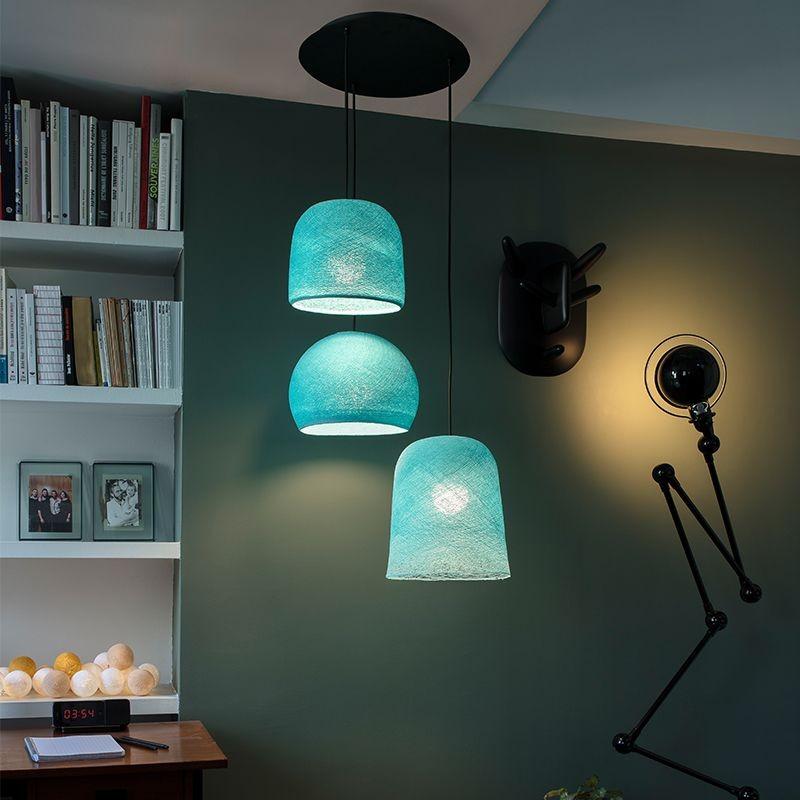 Lámpara de techo 3 aqua - Plafonnier 3 - La Case de Cousin Paul