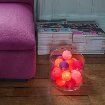 guirlande lumineuse boules couleurs chaudes