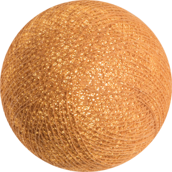 boule tissée pour guirlande Premium caramel - Boules Tissées Premium - La Case de Cousin Paul