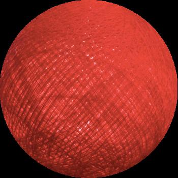 boule tissée pour guirlande Premium rouge - Boules Tissées Premium - La Case de Cousin Paul