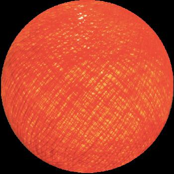 boule tissée pour guirlande Premium orange flash - Boules Tissées Premium - La Case de Cousin Paul