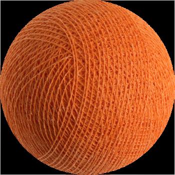 boule tissée pour guirlande Premium orange - Boules Tissées Premium - La Case de Cousin Paul