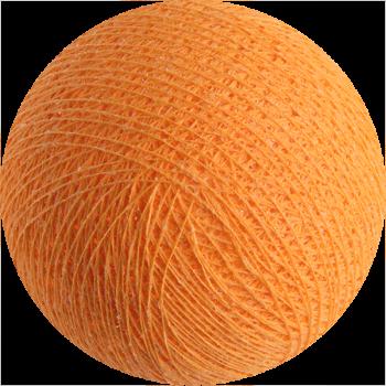 boule tissée pour guirlande Premium orange clair - Boules Tissées Premium - La Case de Cousin Paul