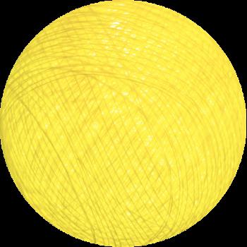 boule tissée pour guirlande Premium jaune - Boules Tissées Premium - La Case de Cousin Paul