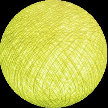 boule tissée pour guirlande Premium jaune clair - Boules Tissées Premium - La Case de Cousin Paul