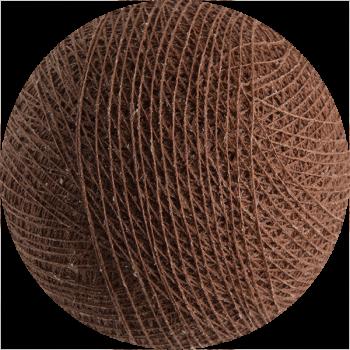 boule tissée pour guirlande Premium marron cuivré - Boules Tissées Premium - La Case de Cousin Paul