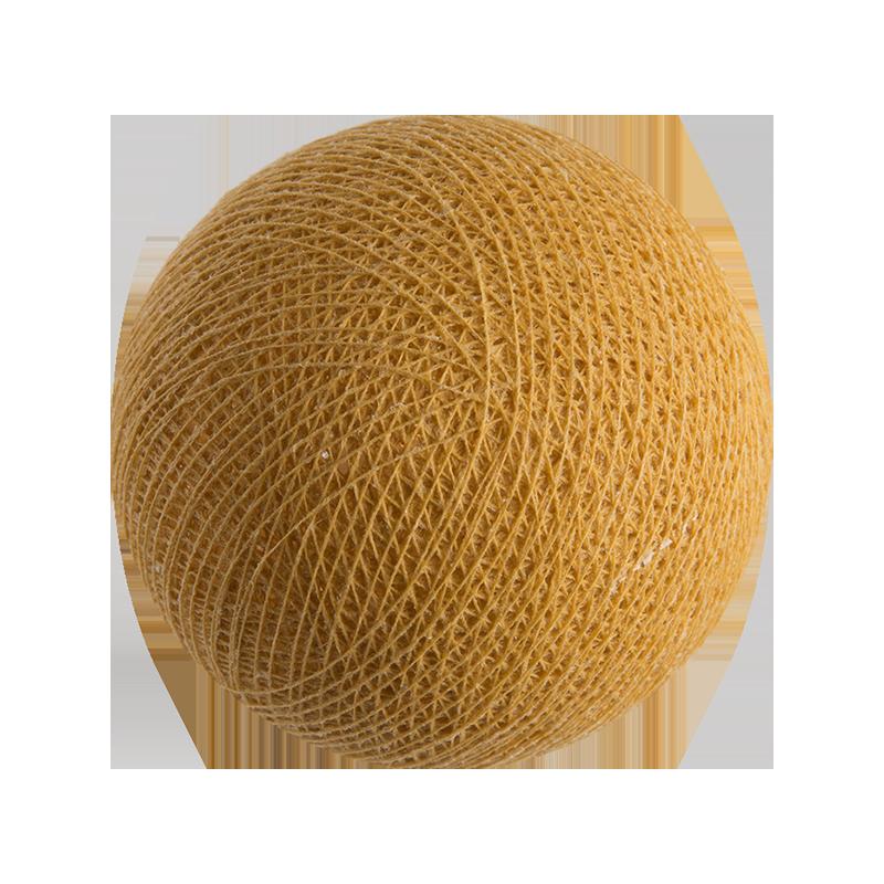 boule tissée pour guirlande Premium moutarde - Boules Tissées Premium - La Case de Cousin Paul
