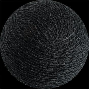 boule tissée pour guirlande Premium noir - Boules Tissées Premium - La Case de Cousin Paul