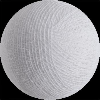boule tissée pour guirlande Premium blanc - Boules Tissées Premium - La Case de Cousin Paul