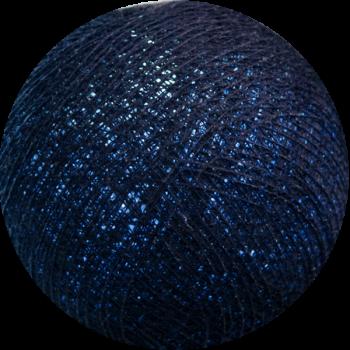 boule tissée pour guirlande Premium bleu nuit - Boules Tissées Premium - La Case de Cousin Paul