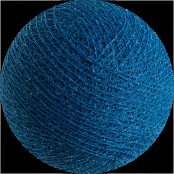 boule tissée pour guirlande Premium bleu roi - Boules Tissées Premium - La Case de Cousin Paul