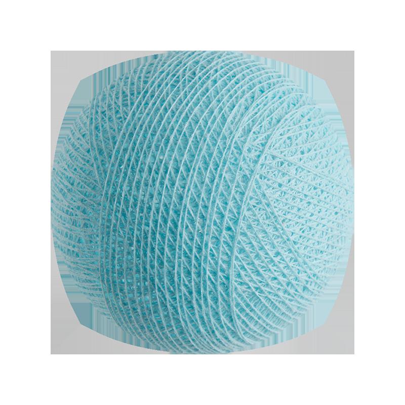boule tissée pour guirlande Premium bleu ciel - Boules Tissées Premium - La Case de Cousin Paul