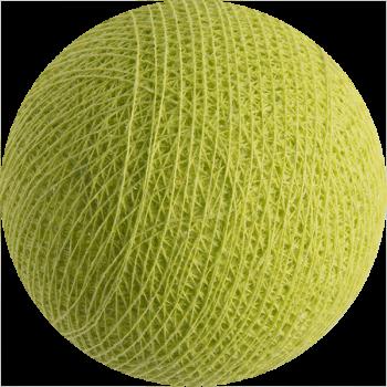 boule tissée pour guirlande Premium vert anis - Boules Tissées Premium - La Case de Cousin Paul