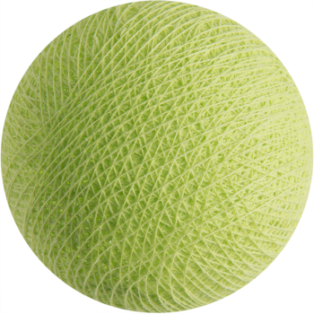 boule tissée pour guirlande Premium vert amande - Boules Tissées Premium - La Case de Cousin Paul