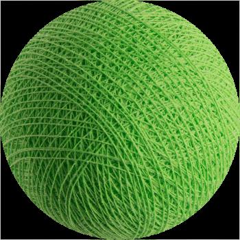 boule tissée pour guirlande Premium vert flash - Boules Tissées Premium - La Case de Cousin Paul